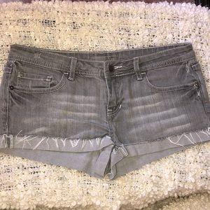 Grey Jean Shorts by 2.1 Denim